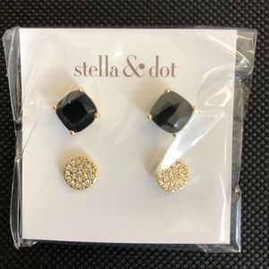Stella & Dot Luxe Stud Pack - Gold (set of 2)